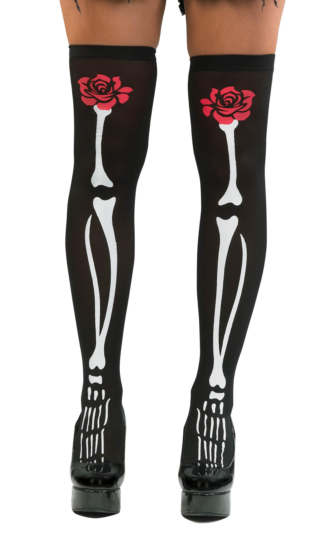 Αποκριάτικο Αξεσουάρ Κάλτσες με Κόκκαλα 7fc4b3d5cd5